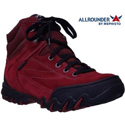 Allrounder Nigata-tex Rouge velours bottillon