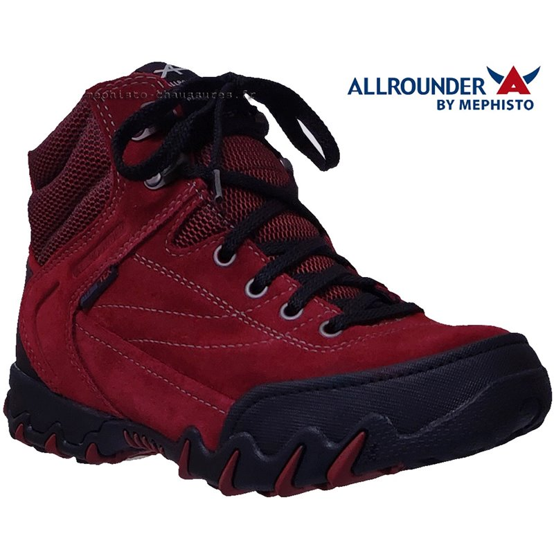 le pecq, Nigata-tex, Rouge velours chez www.mephisto-chaussures.fr (66046)