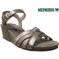Mephisto Mado Taupe métallisé cuir sandale