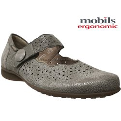 Mobils by Mephisto FABIENNE Taupe cuir ballerine 67105