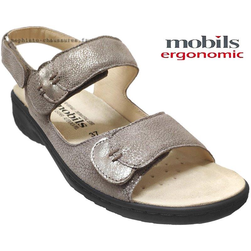 achat mephisto, Getha, Taupe métallisé cuir chez www.mephisto-chaussures.fr (67420)