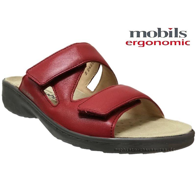 le pecq, Geva, Rouge cuir chez www.mephisto-chaussures.fr (67830)