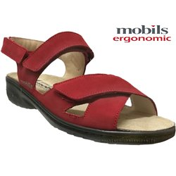 Mobils by Mephisto Geryna Rouge nubuck sandale