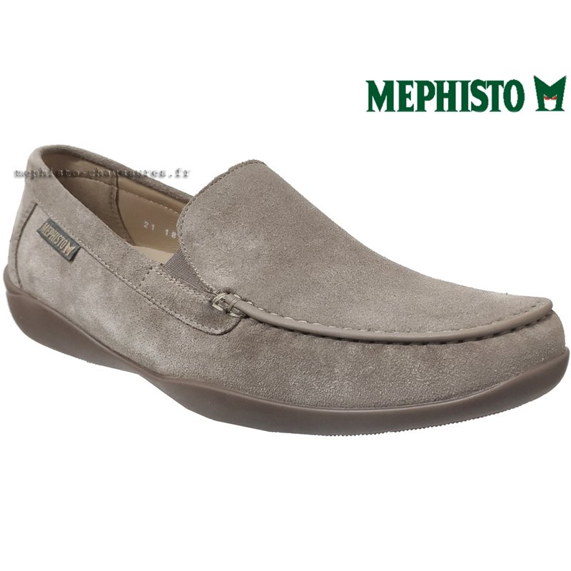 le pecq, Ianik, Taupe Velours chez www.mephisto-chaussures.fr (69294)