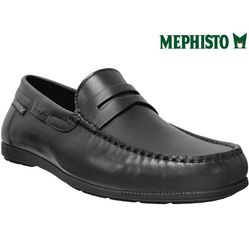Mephisto ALYON Noir cuir mocassin