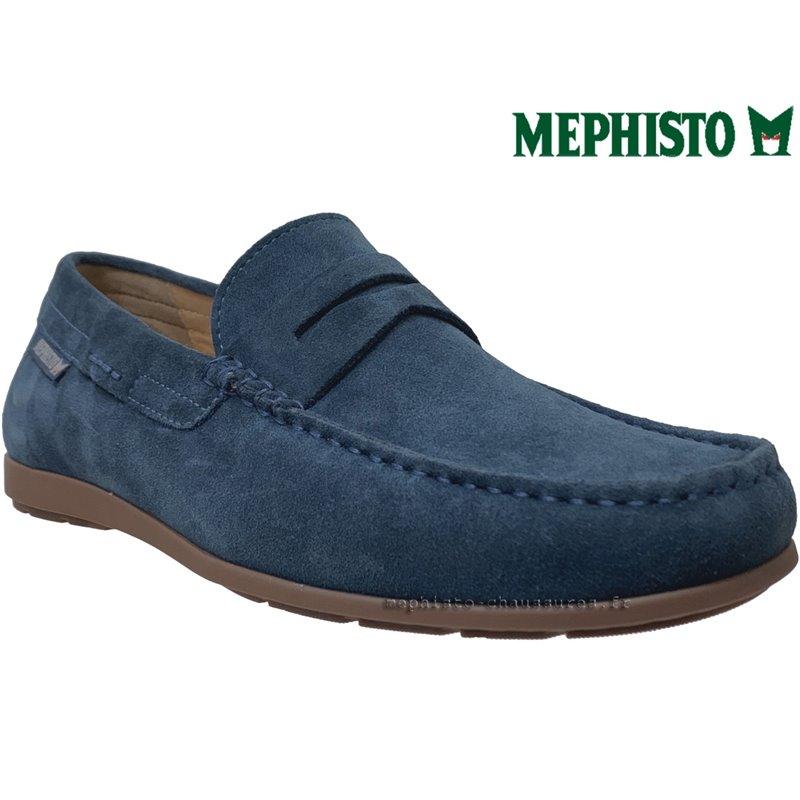 Mephisto ALYON Bleu velours mocassin 69409