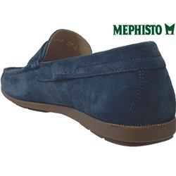 Mephisto ALYON Bleu velours mocassin 69412