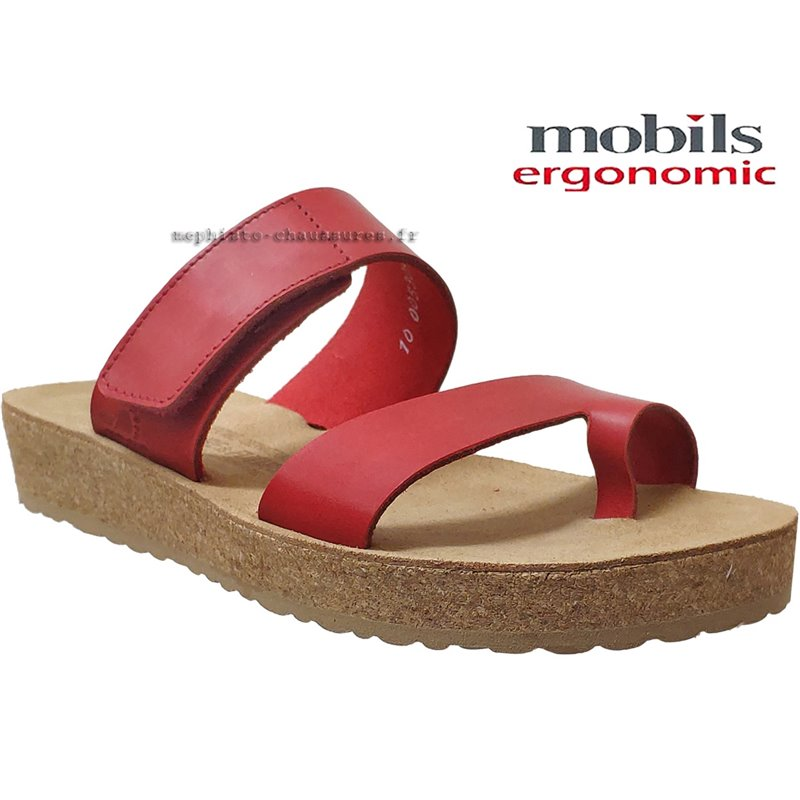 le pecq, Cecily, Rouge cuir chez www.mephisto-chaussures.fr (69914)