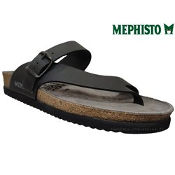 mephisto-chaussures.fr livre à Gravelines Mephisto NIELS Noir cuir tong
