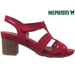 le pecq, Blanca, Rouge velours chez www.mephisto-chaussures.fr (70770)