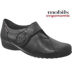 Mobils by Mephisto Faustine Noir cuir lisse scratch