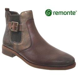 Remonte R6382 Marron moyen cuir bottine