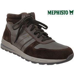 Mephisto Boran Marron cuir/velours bottillon