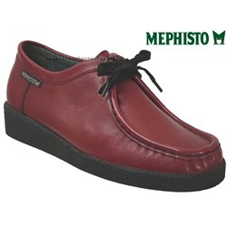 Mephisto CHRISTY Rouge cuir lacets_derbies 75129