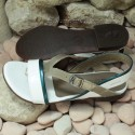 MEPHISTO Femme Sandale ZULIE Blanc verni 7603