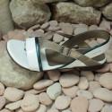 MEPHISTO Femme Sandale ZULIE Blanc verni 7604