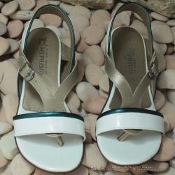 MEPHISTO Femme Sandale ZULIE Blanc verni 7606