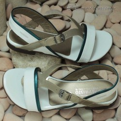 MEPHISTO Femme Sandale ZULIE Blanc verni 7607