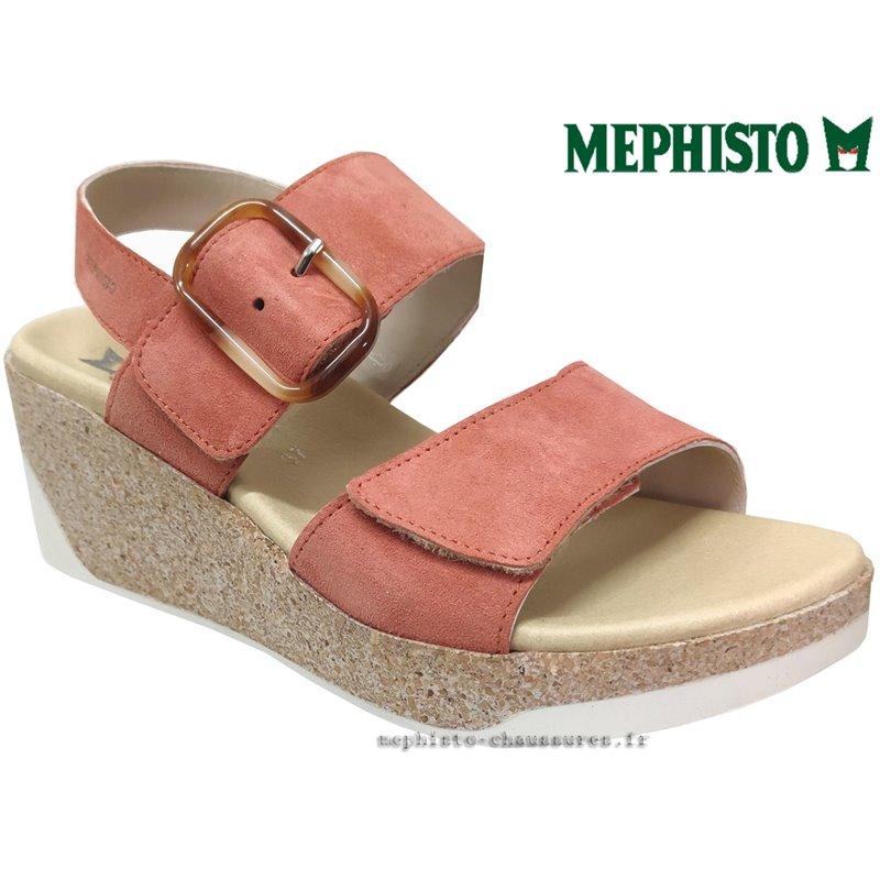 le pecq, Giulia, Rose velours chez www.mephisto-chaussures.fr (77568)