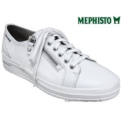 Mephisto June Blanc cuir lacets_derbies 77578
