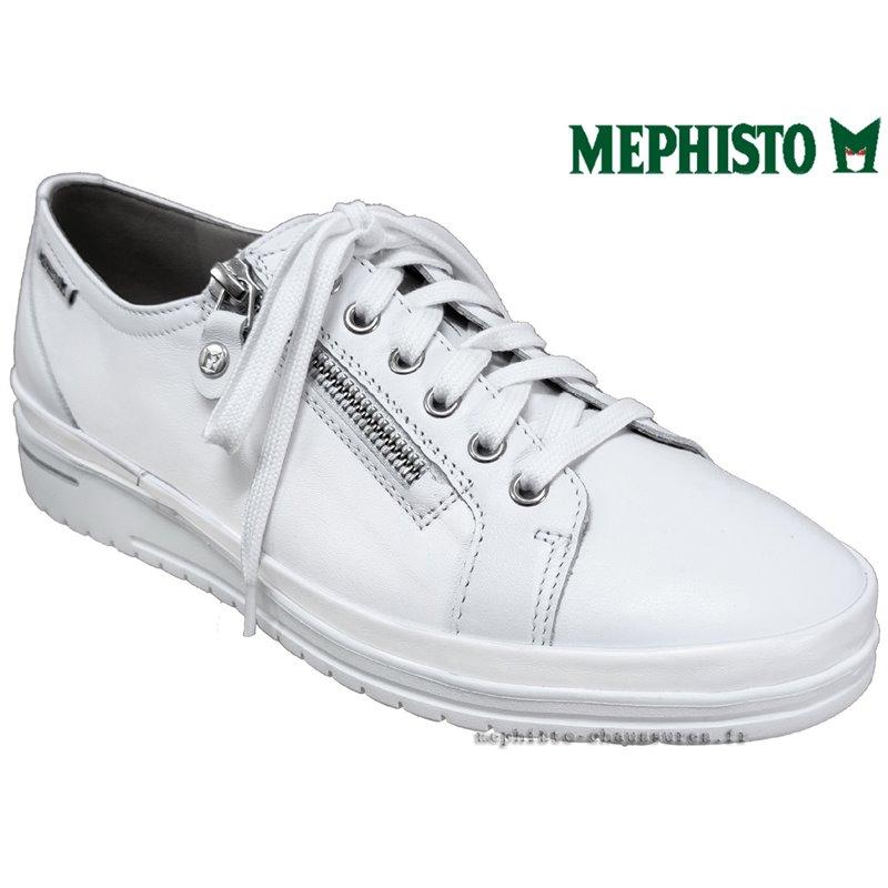 le pecq, June, Blanc cuir chez www.mephisto-chaussures.fr (77578)