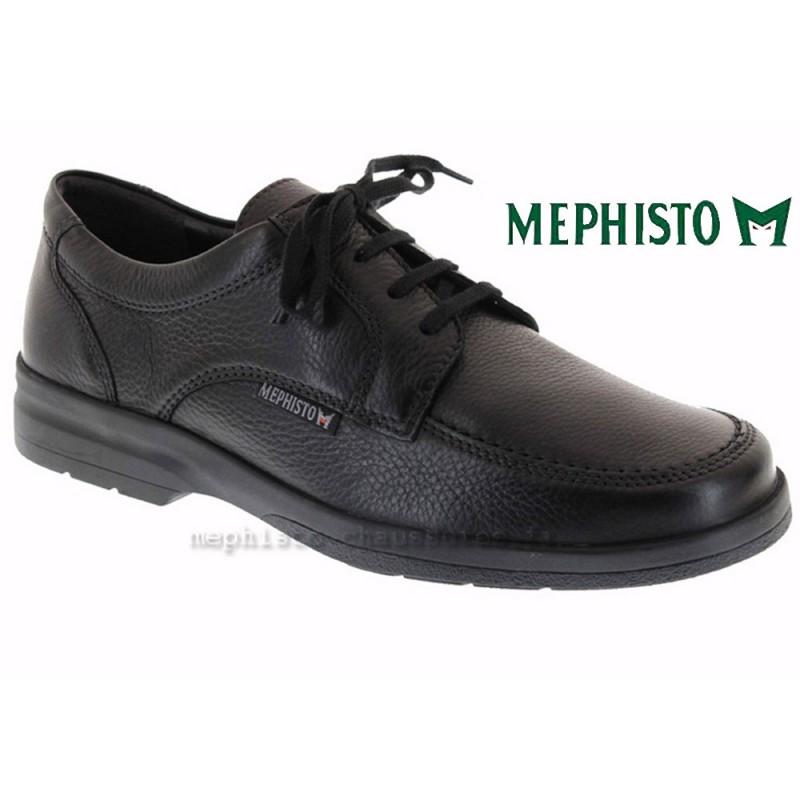 MEPHISTO Homme Lacet JANEIRO Noir Graine cuir 8372
