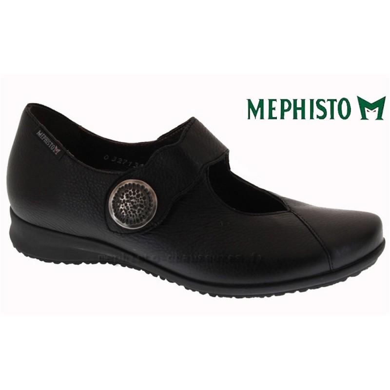 MEPHISTO Femme Ballerine FINALIA Noir lisse cuir 8651