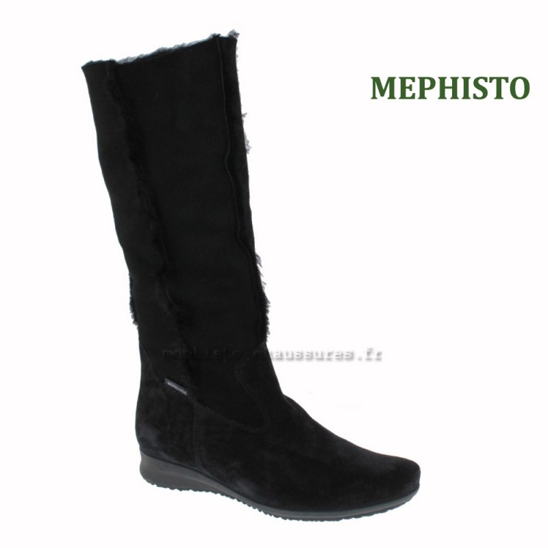 MEPHISTO Femme Botte FLORIDA Noir buck 8683