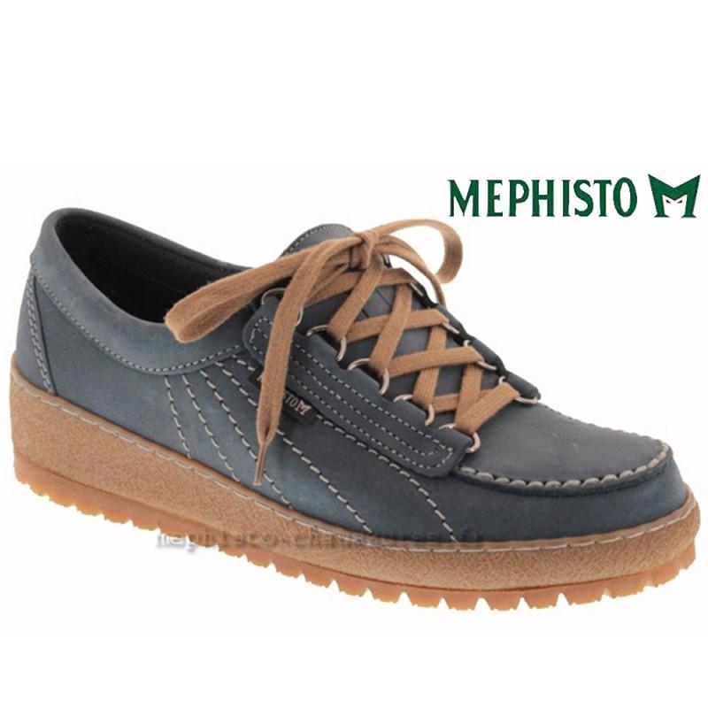 36 Mephisto Bleu 7fr Eur4 Pointure Nubuck Lacets Lady KTcl13JF