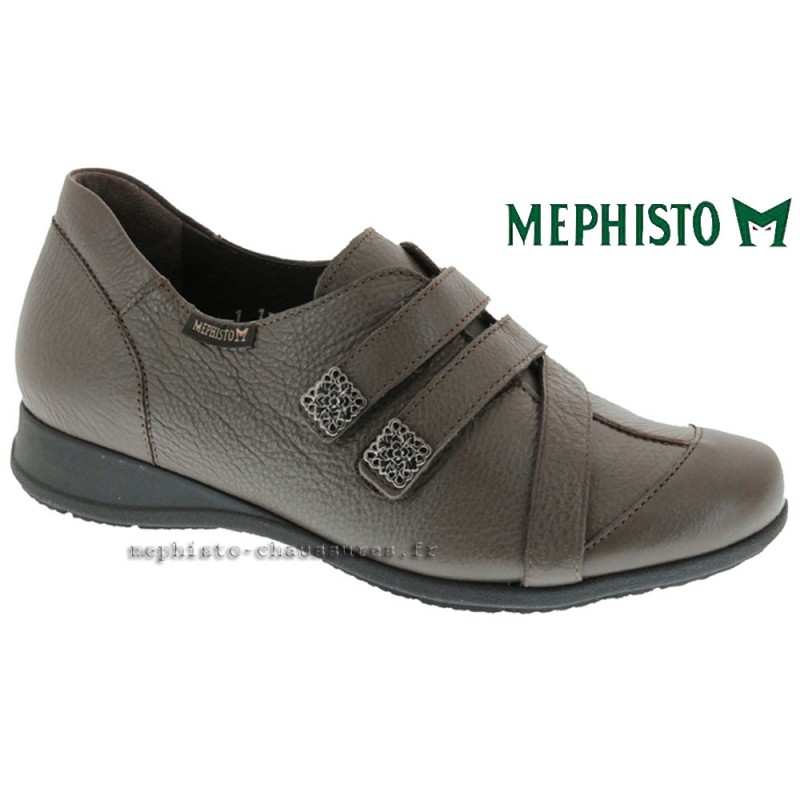 MEPHISTO Femme Scratch GRADI Taupe cuir 9020