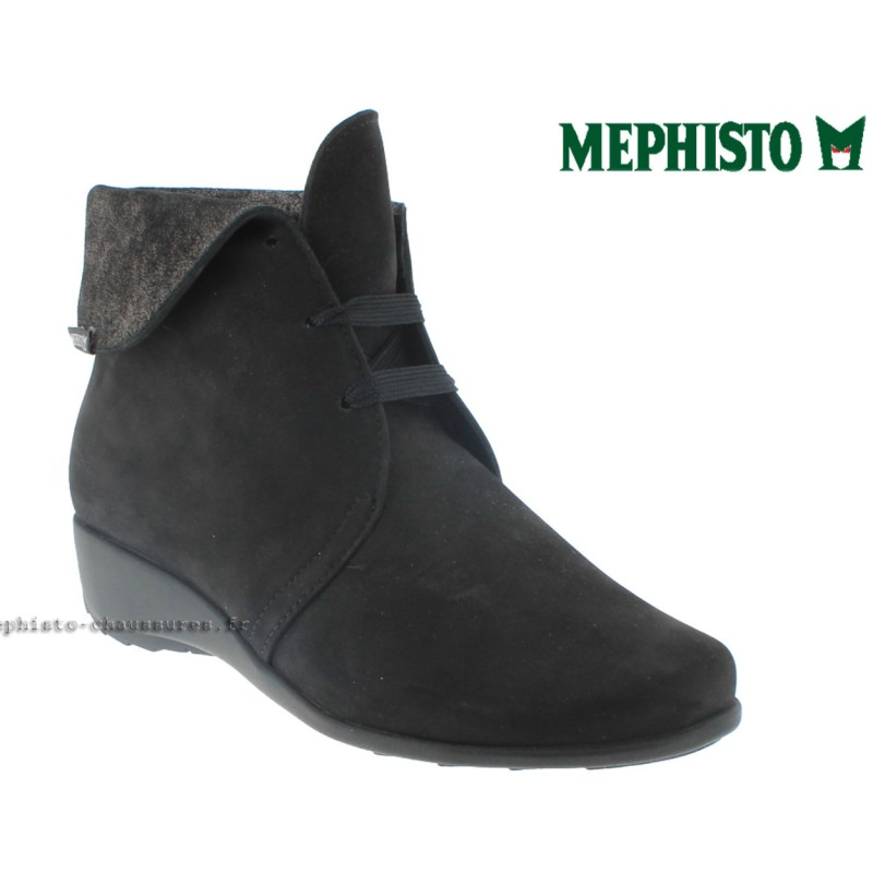 MEPHISTO Femme Bottine SALIMA Noir nubuck 9053