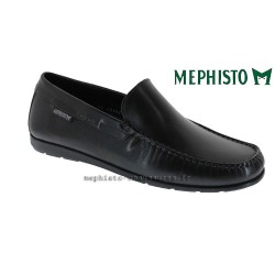 Mode mephisto Mephisto ALGORAS Noir cuir lisse mocassin