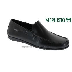 mephisto-chaussures.fr livre à Paris Lyon Marseille Mephisto ALGORAS Noir cuir lisse mocassin