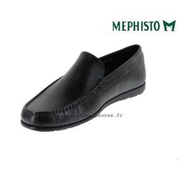 MEPHISTO Homme Mocassin ALGORAS Noir cuir lisse 9610