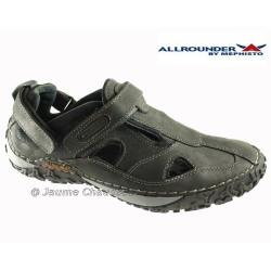 Allrounder PASSION Noir cuir sandale