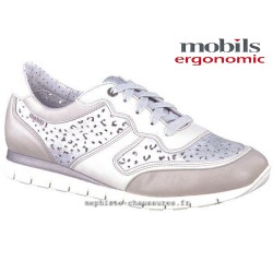 Mobils KADIA PERF Gris cuir lacets
