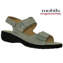 Mobils GETHA Gris reptile cuir sandale