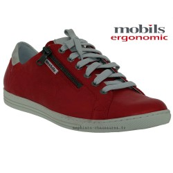 Mobils HAWAI Rouge cuir lacets derbies