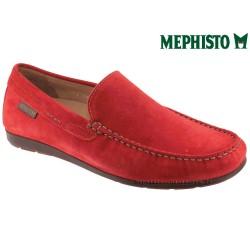 Mephisto ALGORAS Rouge velours mocassin