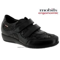 Mobils JENNA Noir cuir mocassin