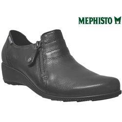 Mephisto Severine Noir cuir mocassin