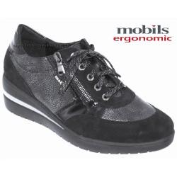 Mobils Patrizia Noir Cuir lacets
