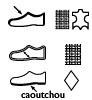 Dessus Cuir et Textile, doublure Textile, semelle Caoutchouc